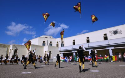 The celebration of flags in Oria