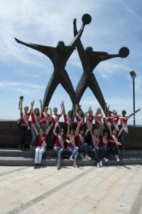il saluto dal monumento ai marinai