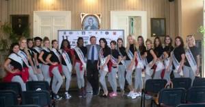 con el alcalde, Domenico Tanzarella