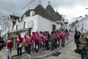 the visit at the historicasl district of Alberobello