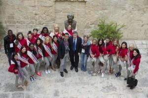 col Presidente Gabellone al palazzo della Provincia di Lecce