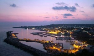 the port of Leuca after the sunset