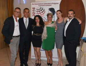 the team of Miss Progress International: from left Antonio, Giuseppe, Arlette, Giusy, Fiora and Alessio